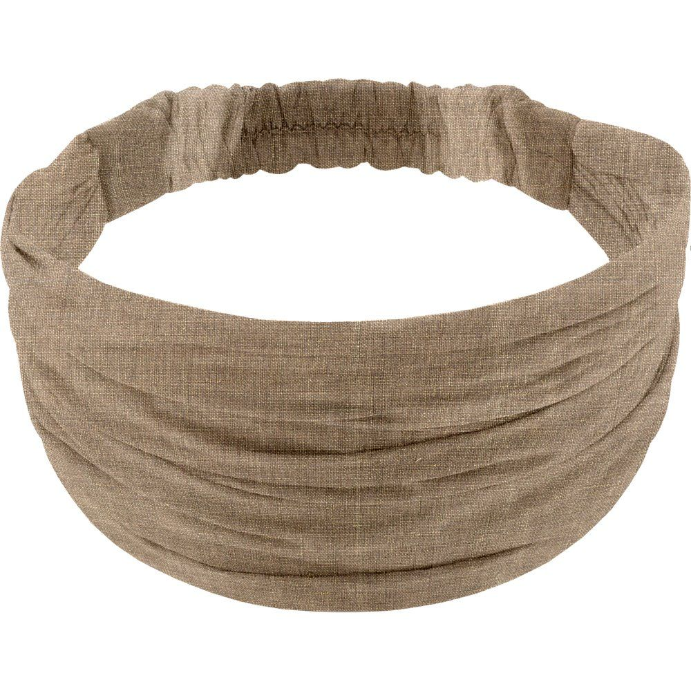 Headscarf headband- child size gold linen