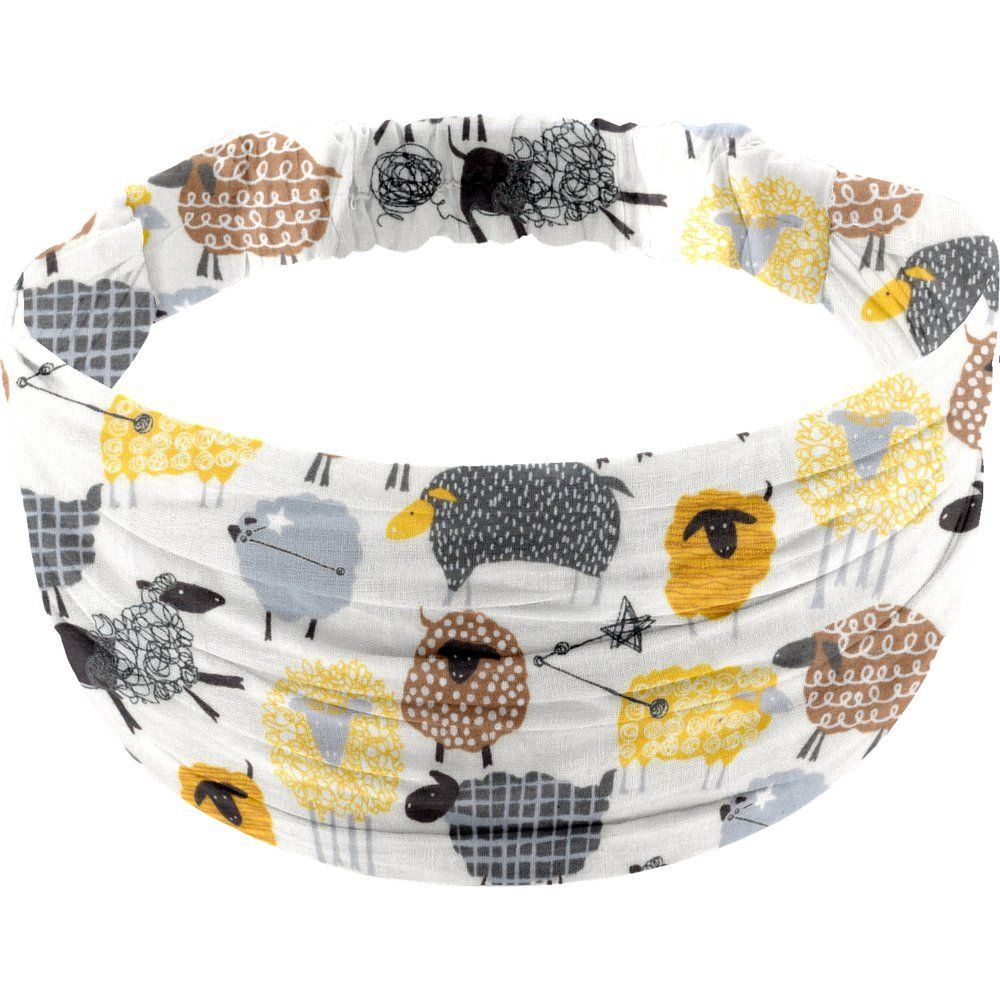 Headscarf headband- child size yellow sheep