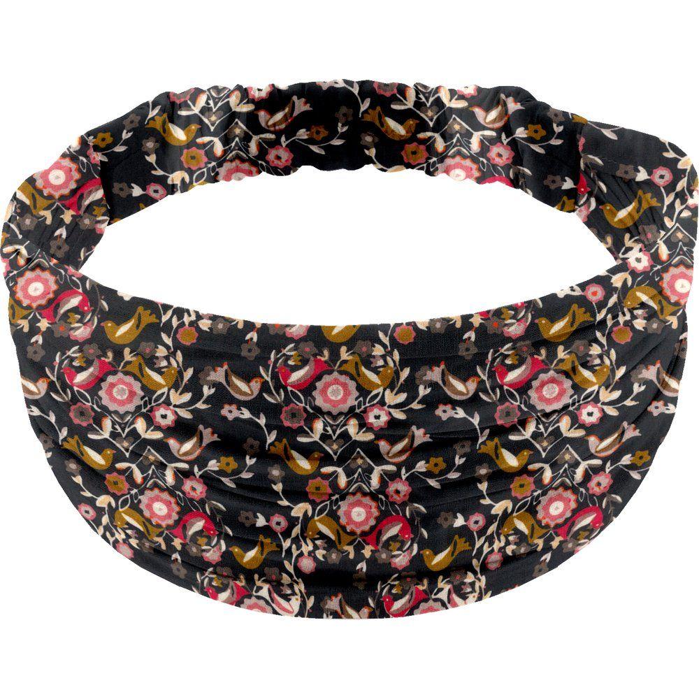 Headscarf headband- child size ochre bird