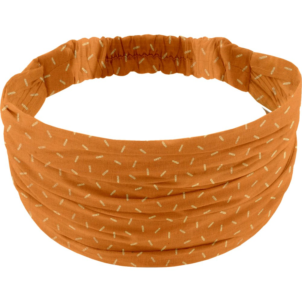 Headscarf headband- child size caramel golden straw