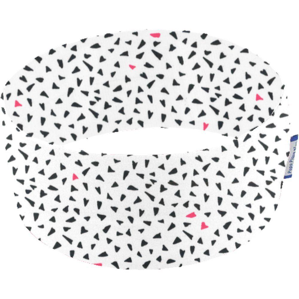 Bandeaux jersey j blanc motif noir fluo