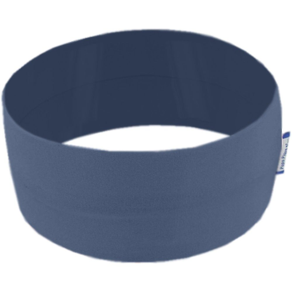Stretch jersey headband  blue jean