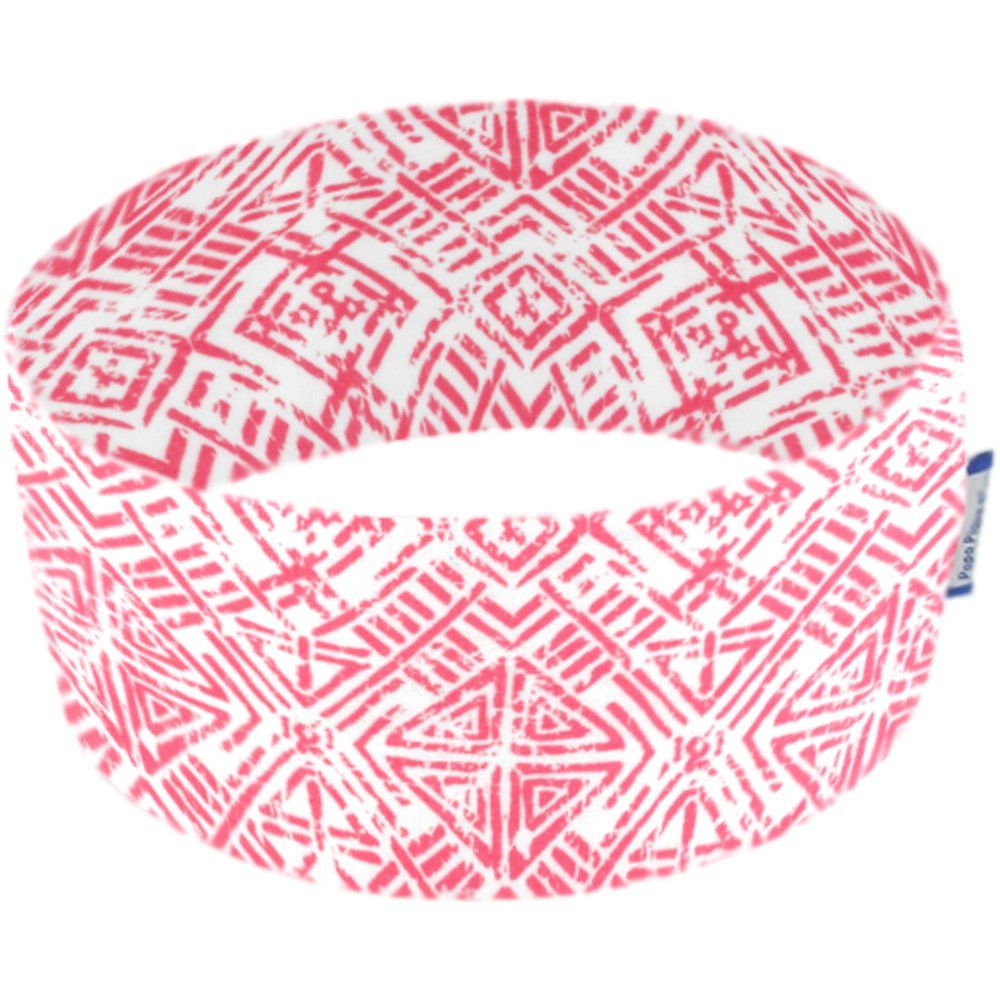 Stretch jersey headband  ethnique corail