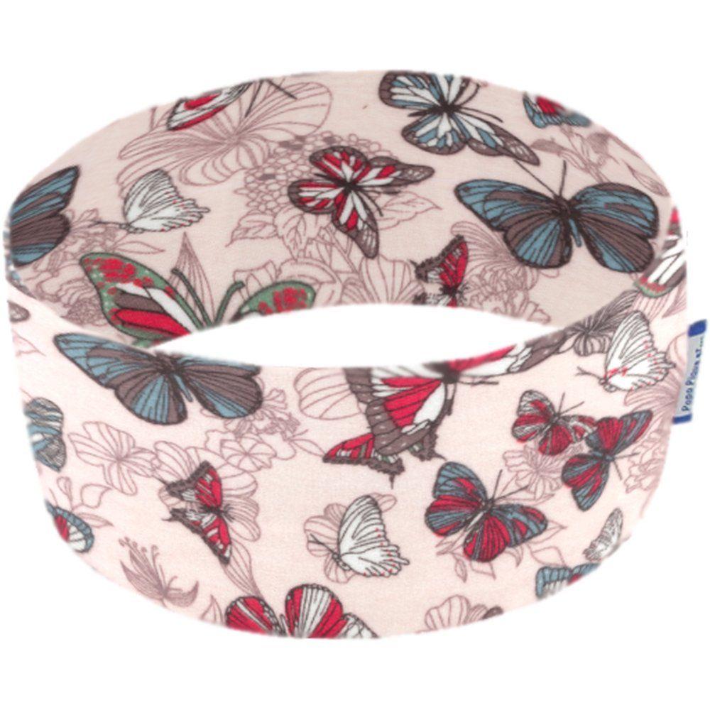 Bandeaux jersey papillon poudré