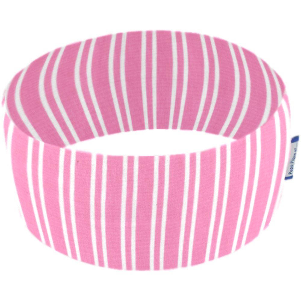 Stretch jersey headband  rayé rose