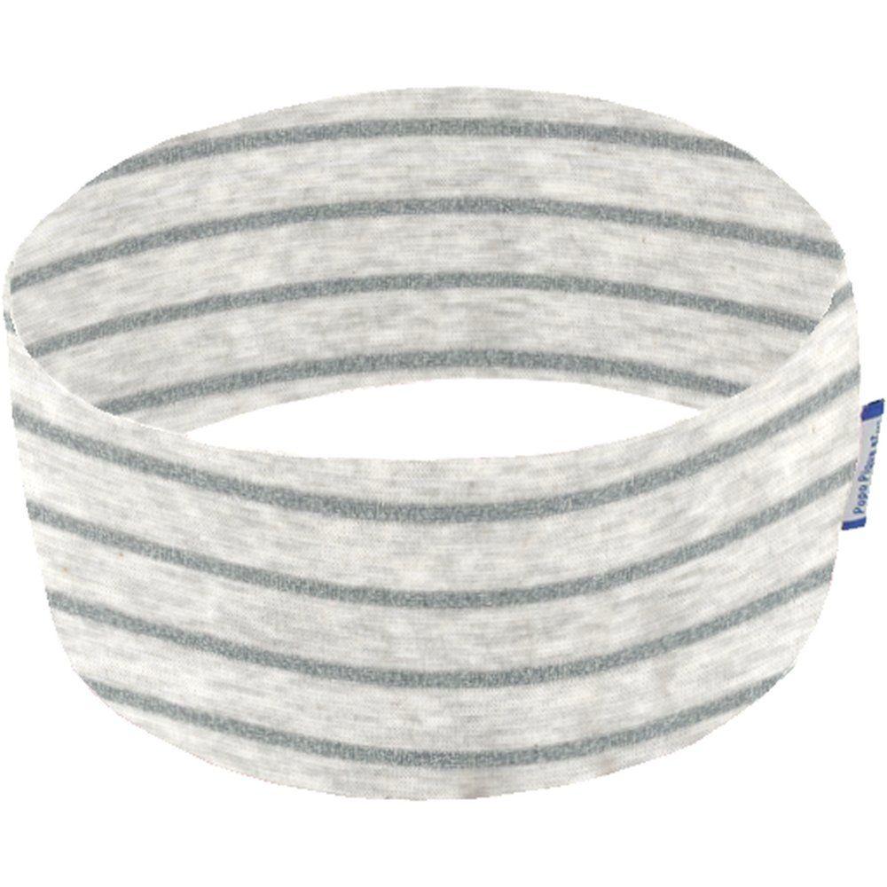 Bandeaux jersey  rayure grise pailleté
