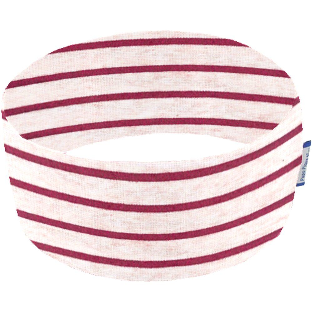 Stretch jersey headband   rayure rose pailleté