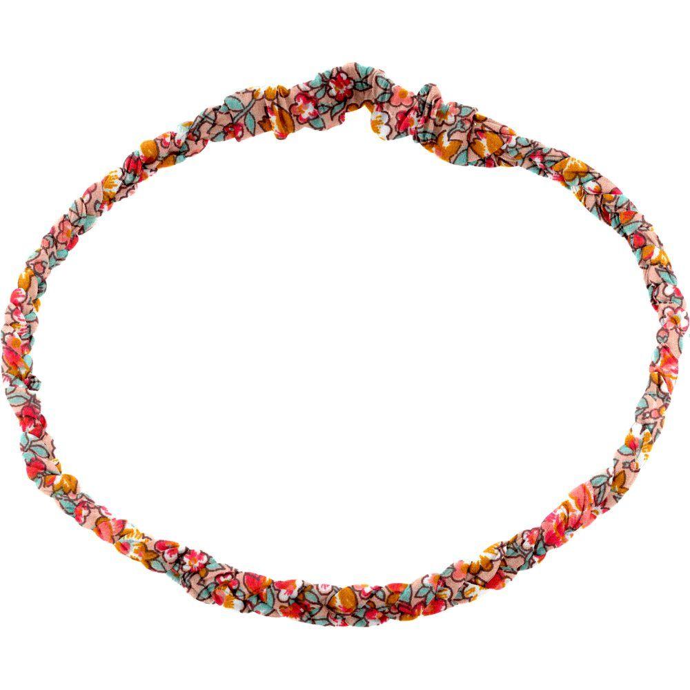 Plait hairband-adult size peach flower