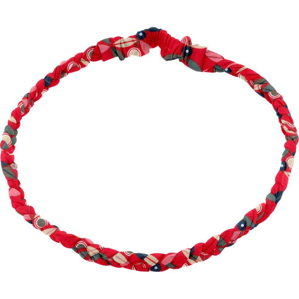 Plait hairband-adult size paprika petal
