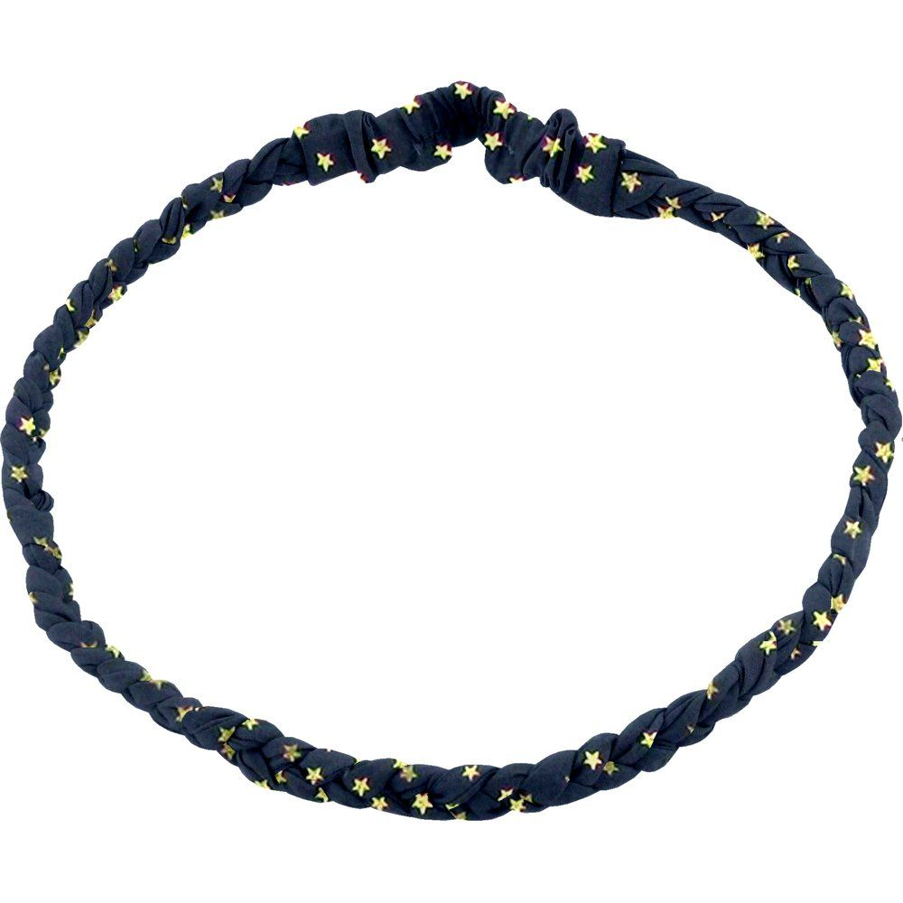 Plait hairband-children size etoile or marine