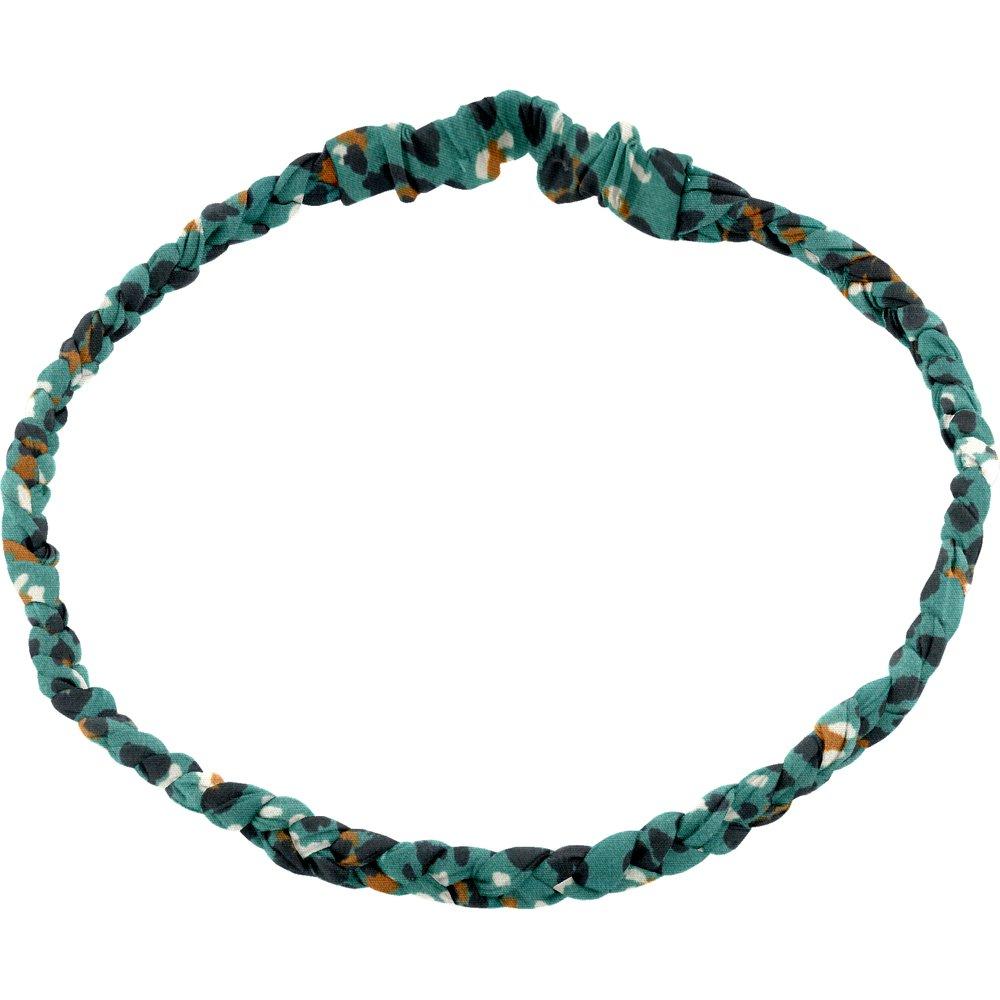 Bandeau tressé enfant panthère jade