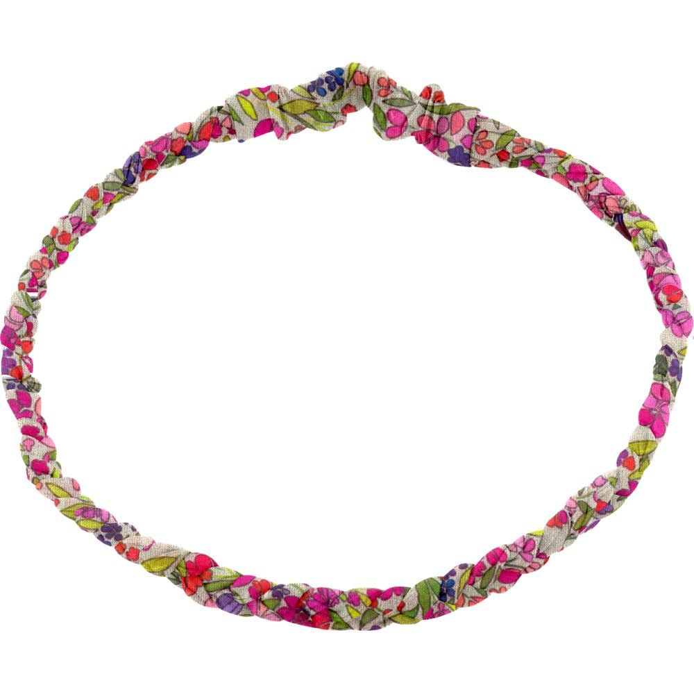 Plait hairband-children size purple meadow