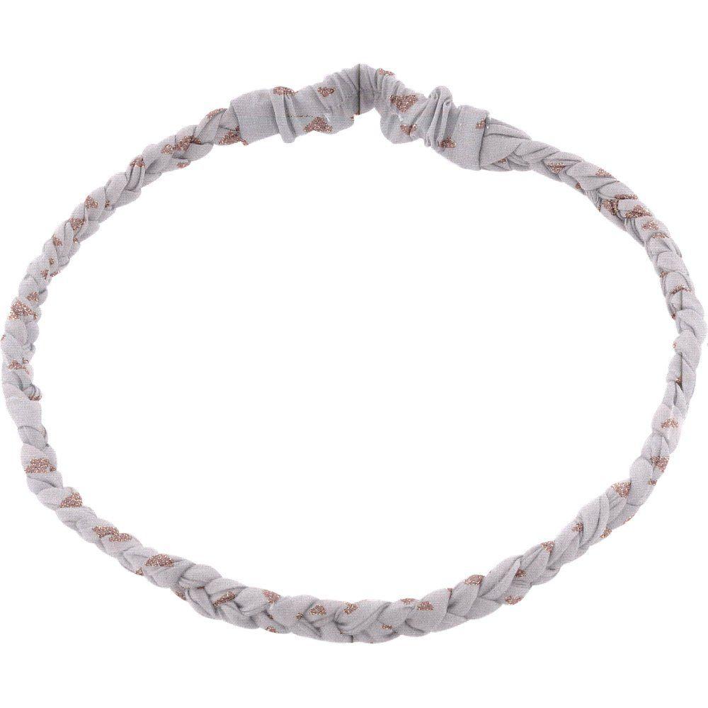 Bandeau tressé enfant triangle cuivré gris