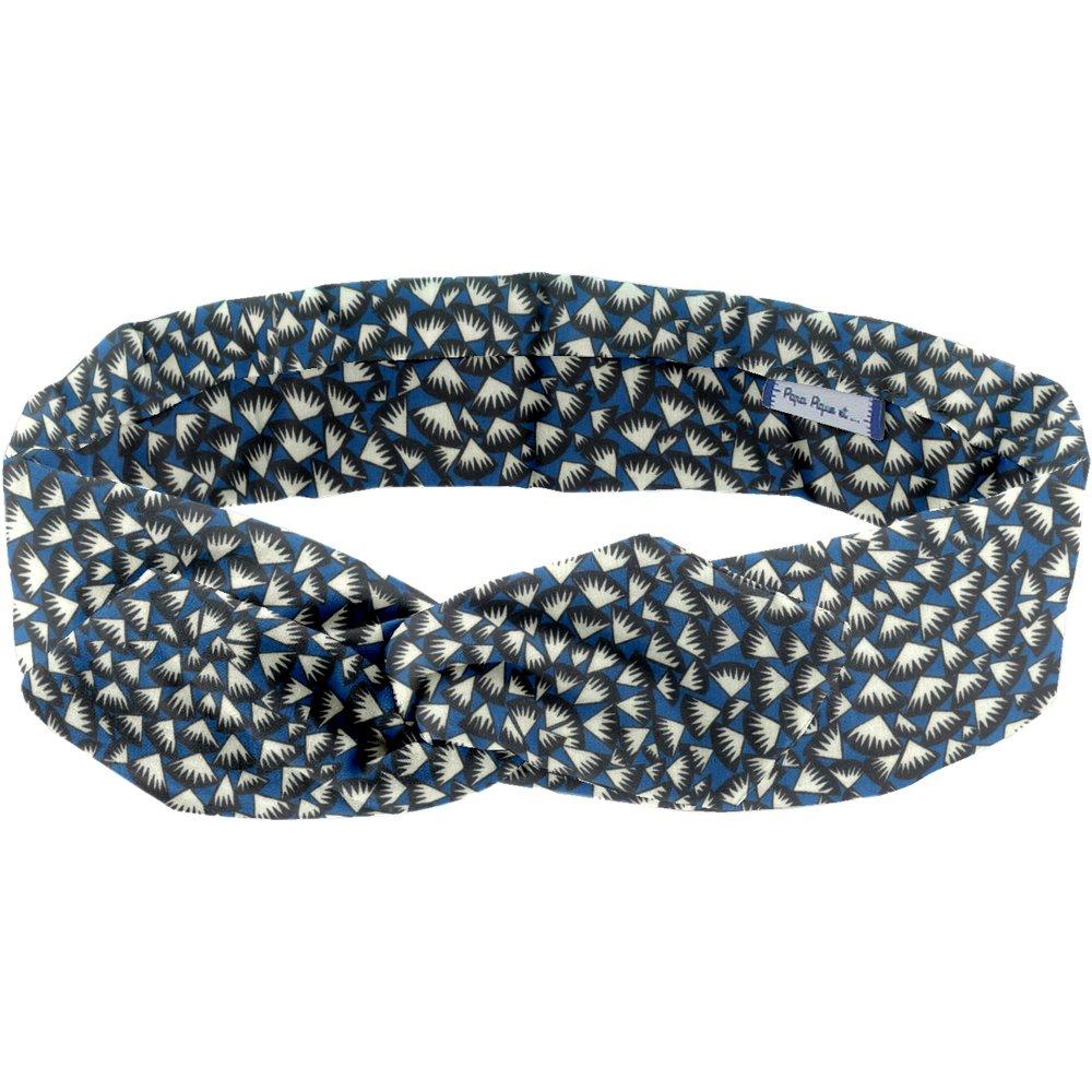 Wire headband retro parts blue night
