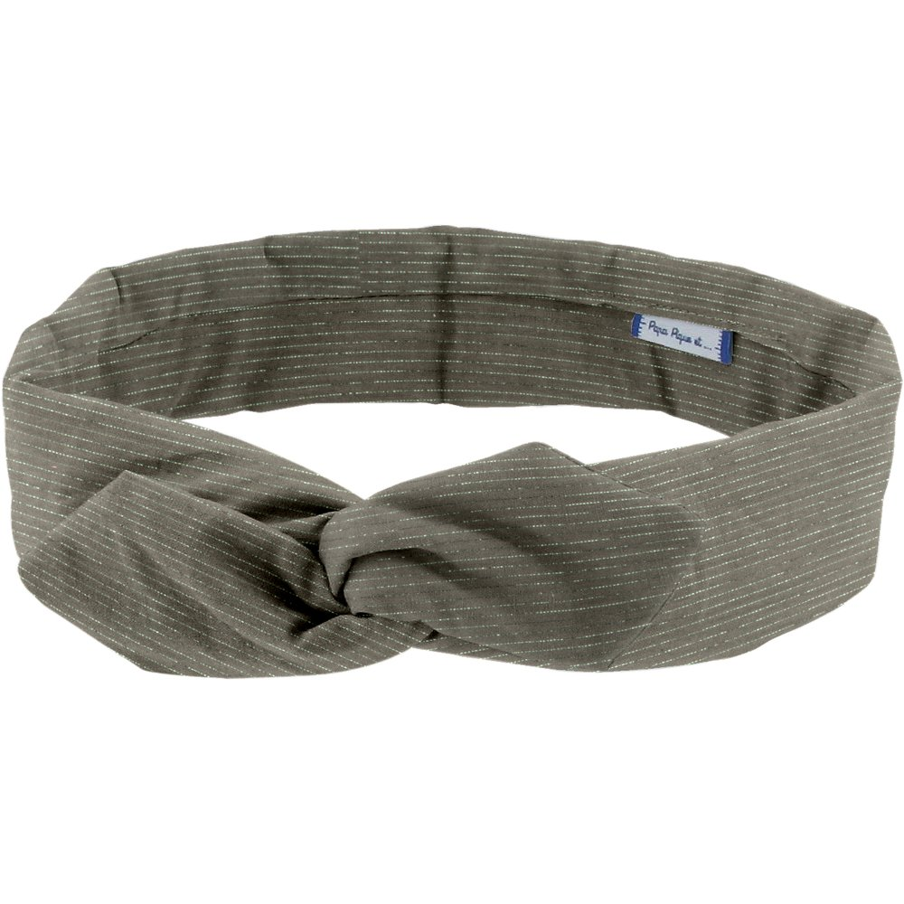 Wire headband retro khaki lurex gauze