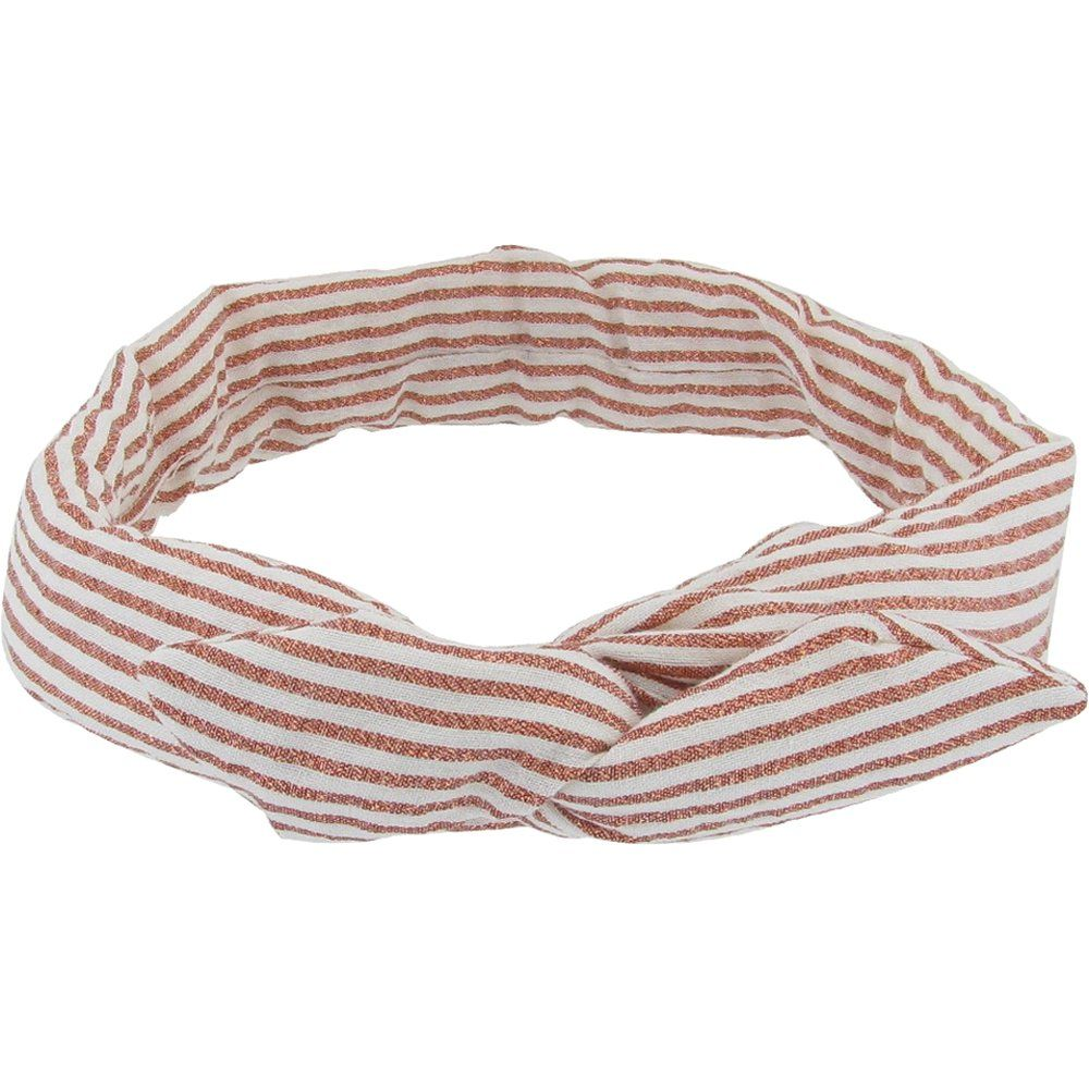 Wire headband retro copper stripe