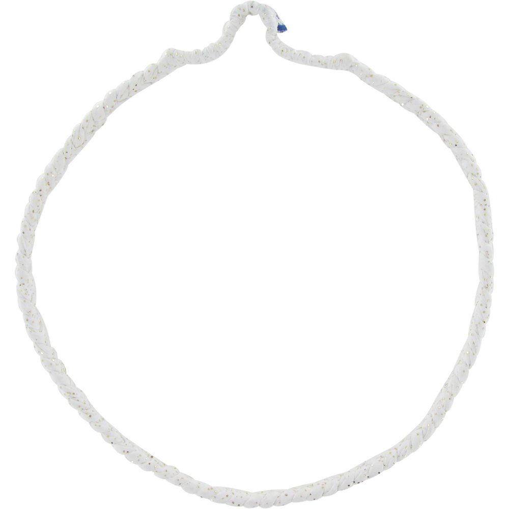 Plait hairband-adult size white sequined
