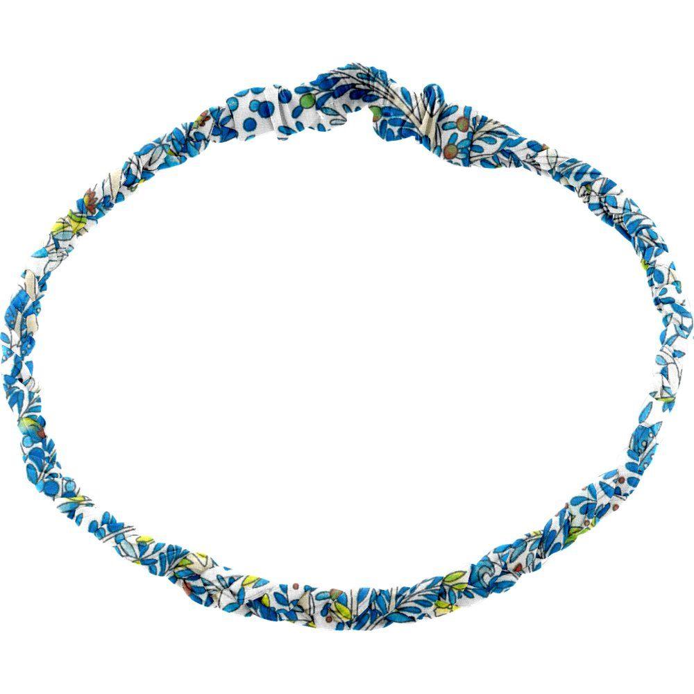 Bandeau tressé adulte forêt bleue