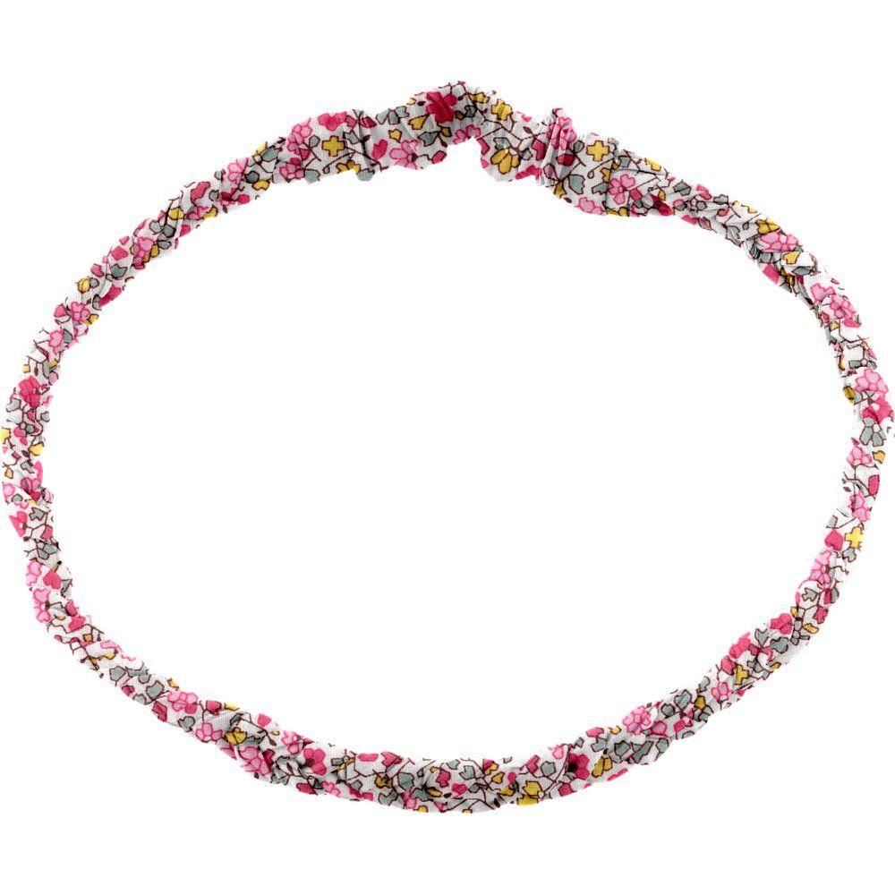 Bandeau tressé adulte jasmin rose