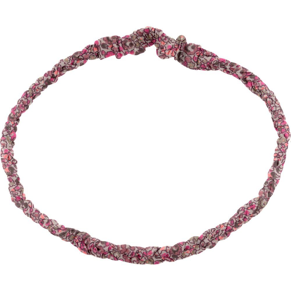 Bandeau tressé adulte lichen prune rose