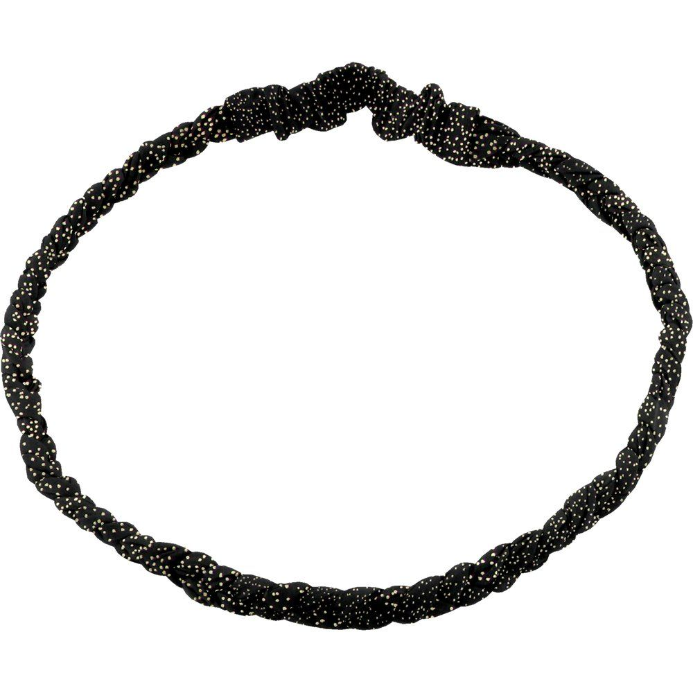 Turbantes trenzados noir pailleté