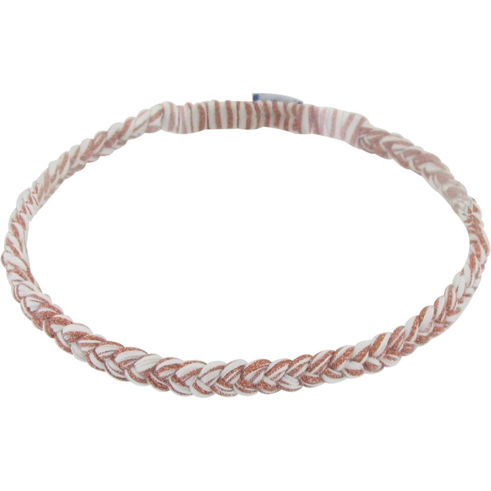 Plait hairband-adult size copper stripe