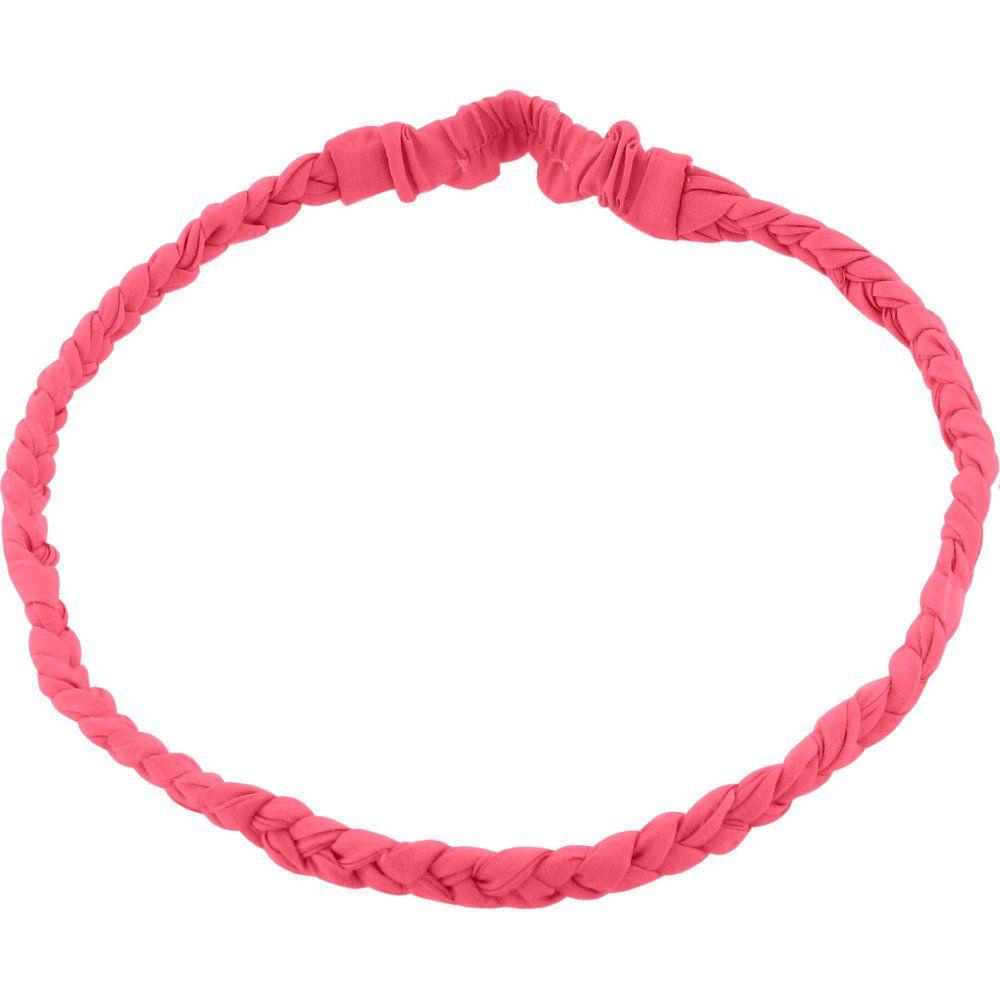 Bandeau tressé enfant corail