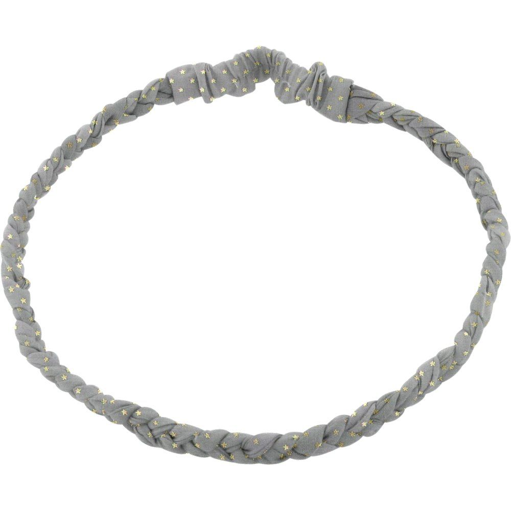 Plait hairband-children size etoile or gris
