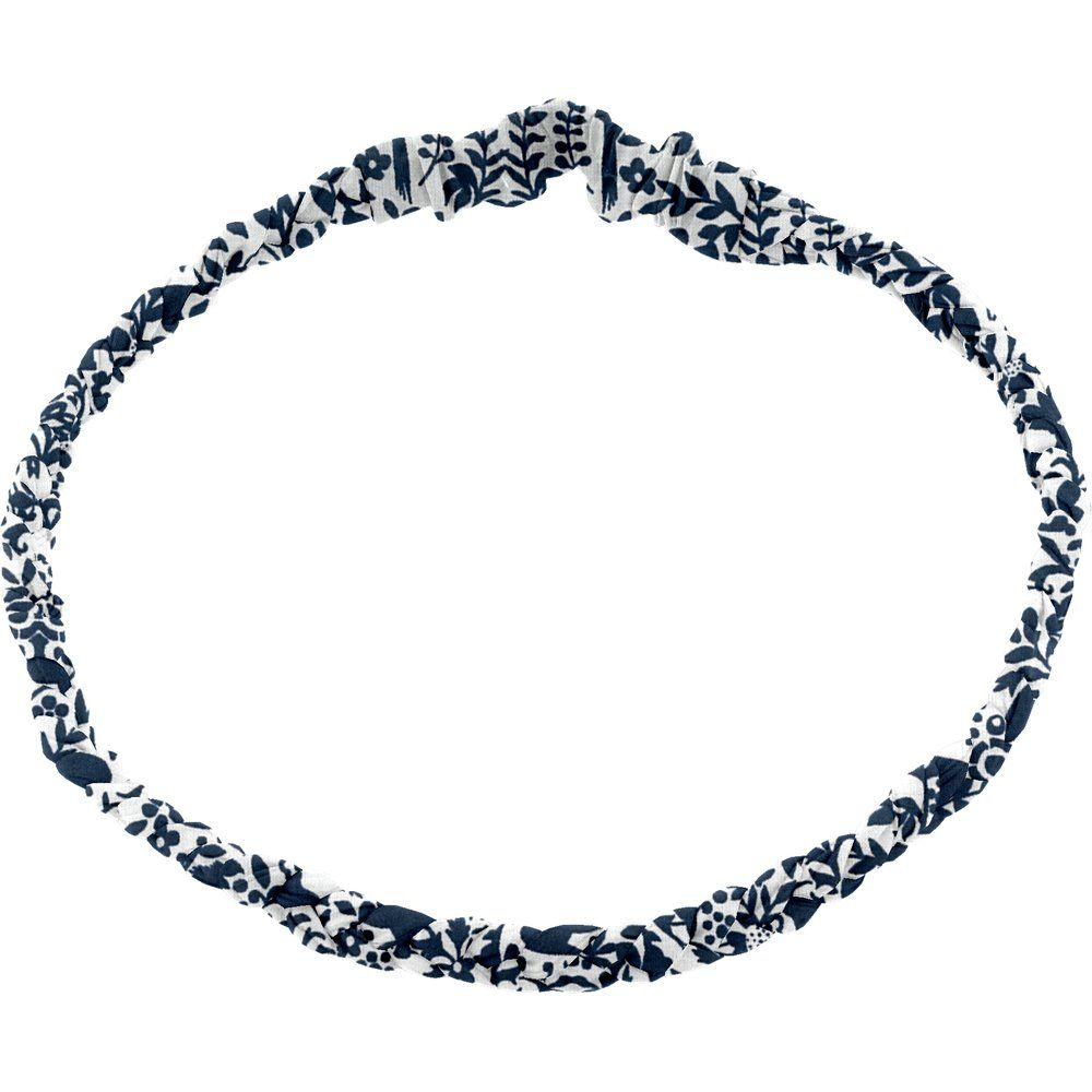 Bandeau tressé enfant scandinave marine