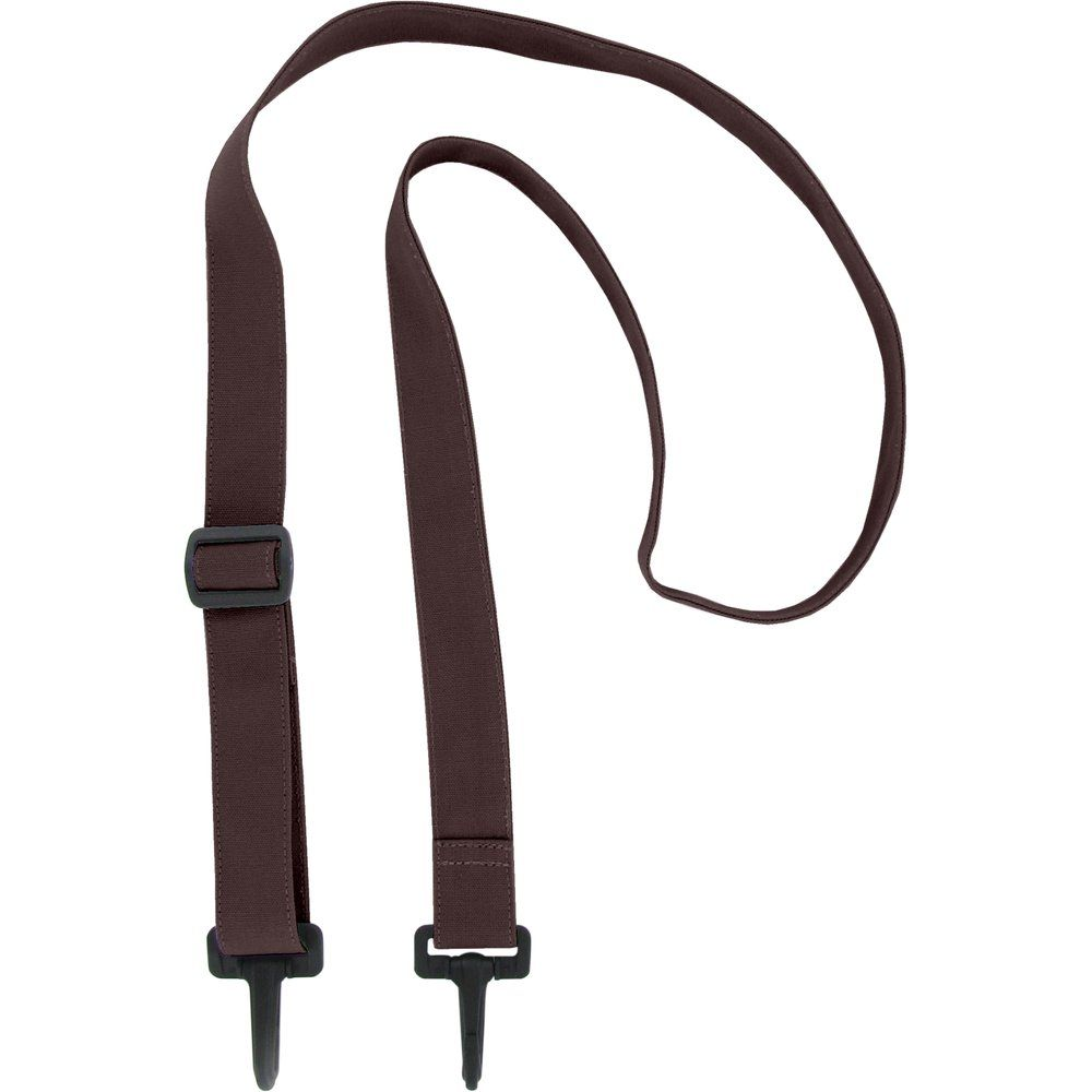 Shoulder strip of bag brown