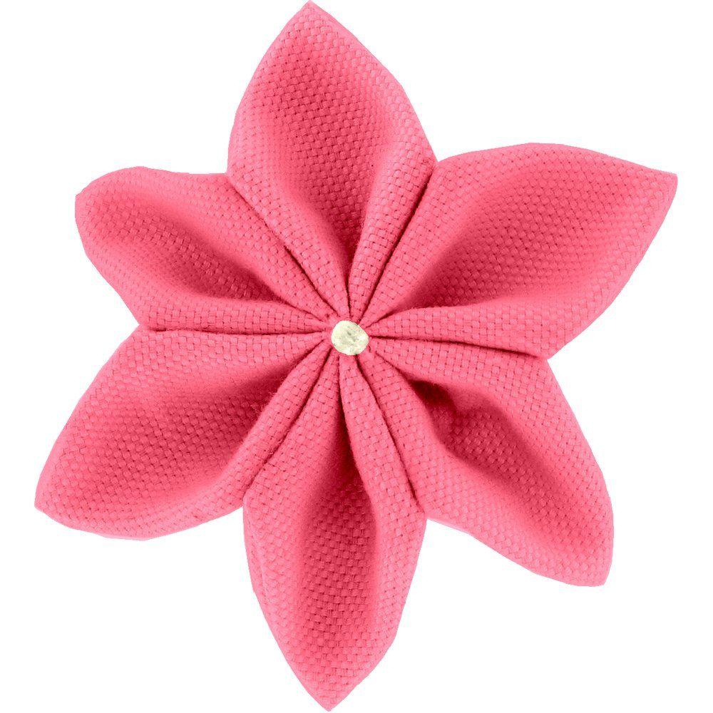 Barrette fleur étoile 4 corail