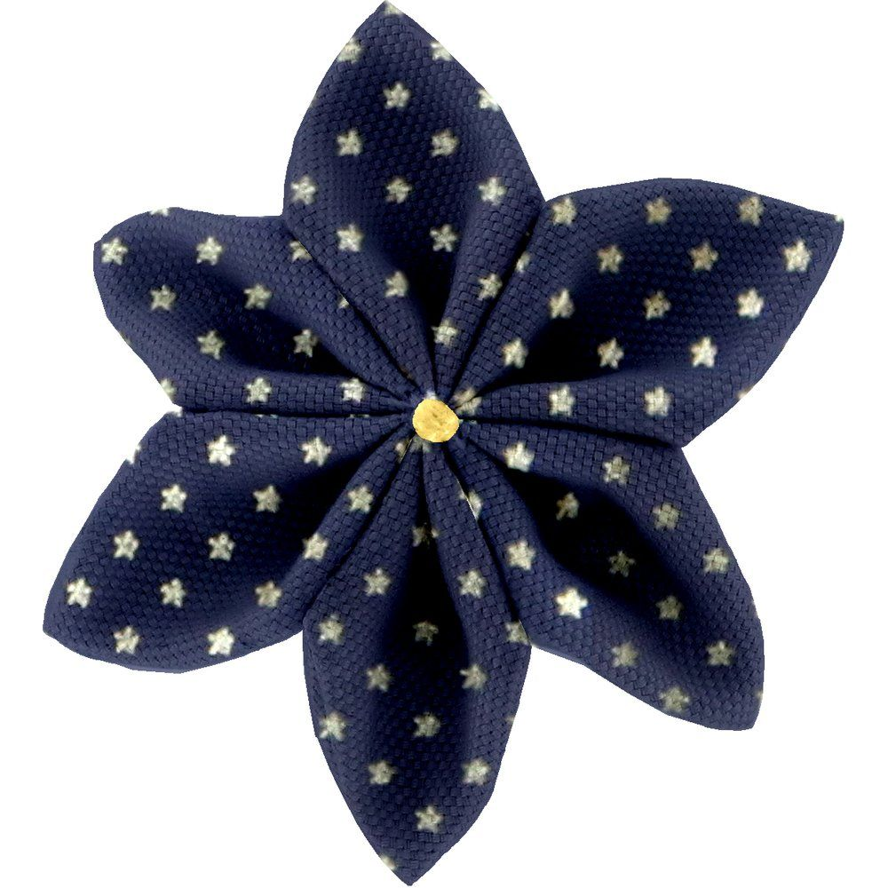 Star flower 4 hairslide etoile or marine