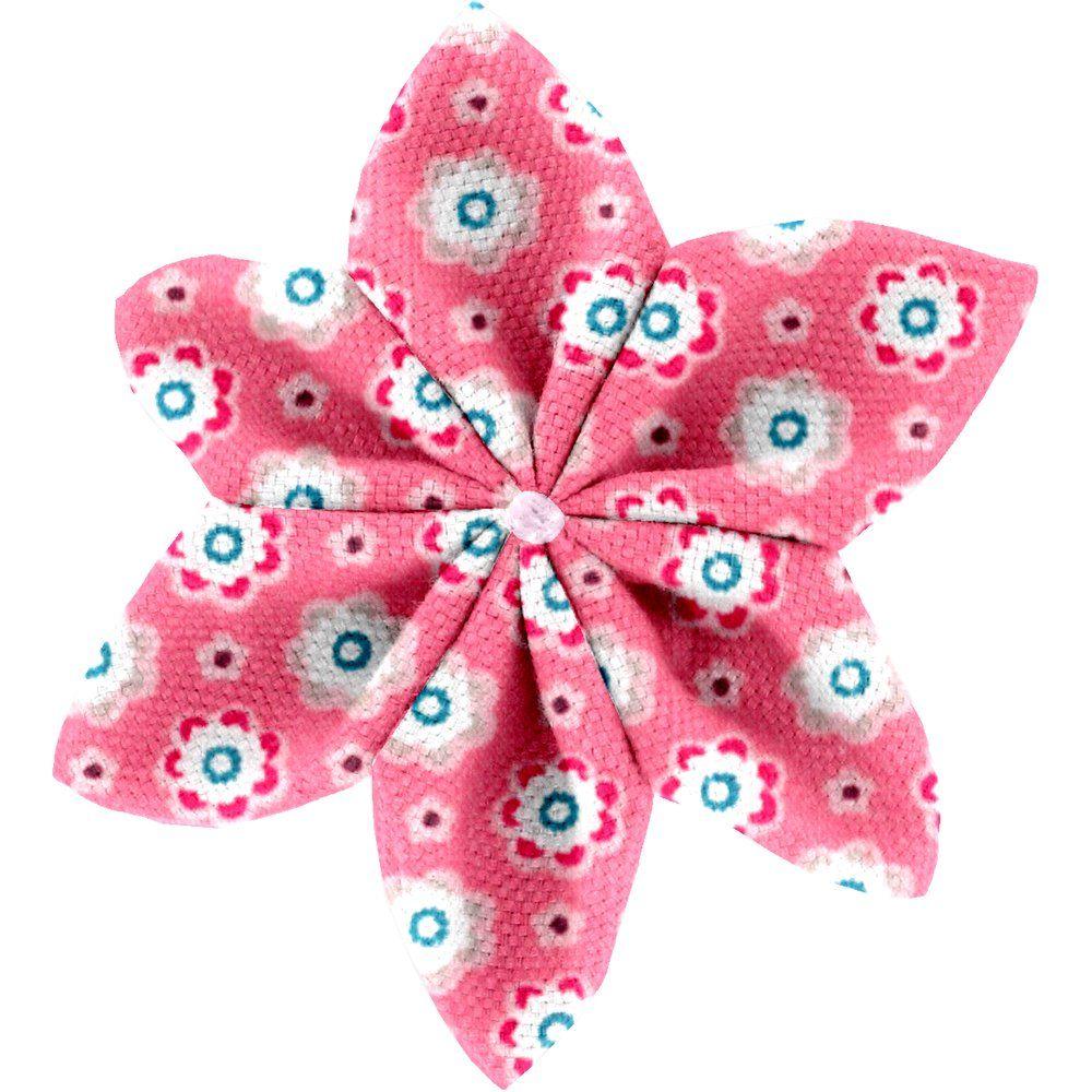 Barrette fleur étoile 4  fleurette blush