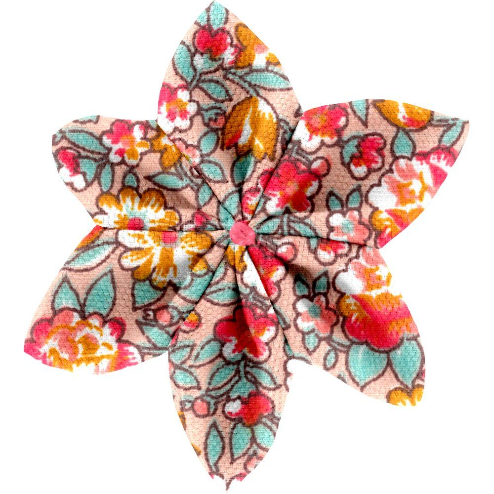 Star flower 4 hairslide peach flower
