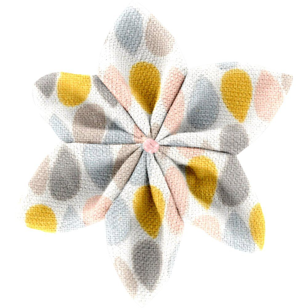 Star flower 4 hairslide pastel drops