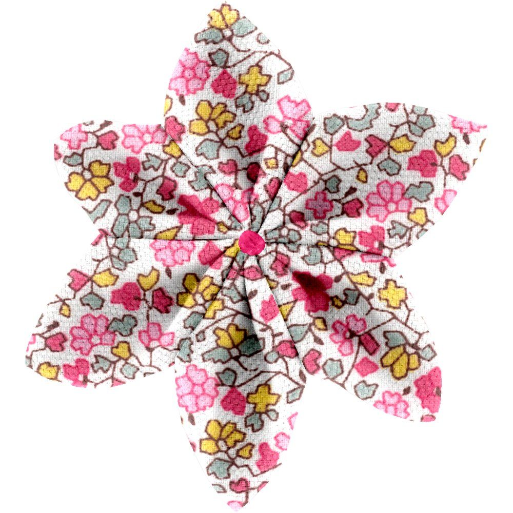 Pasador flor estrella jazmín rosa