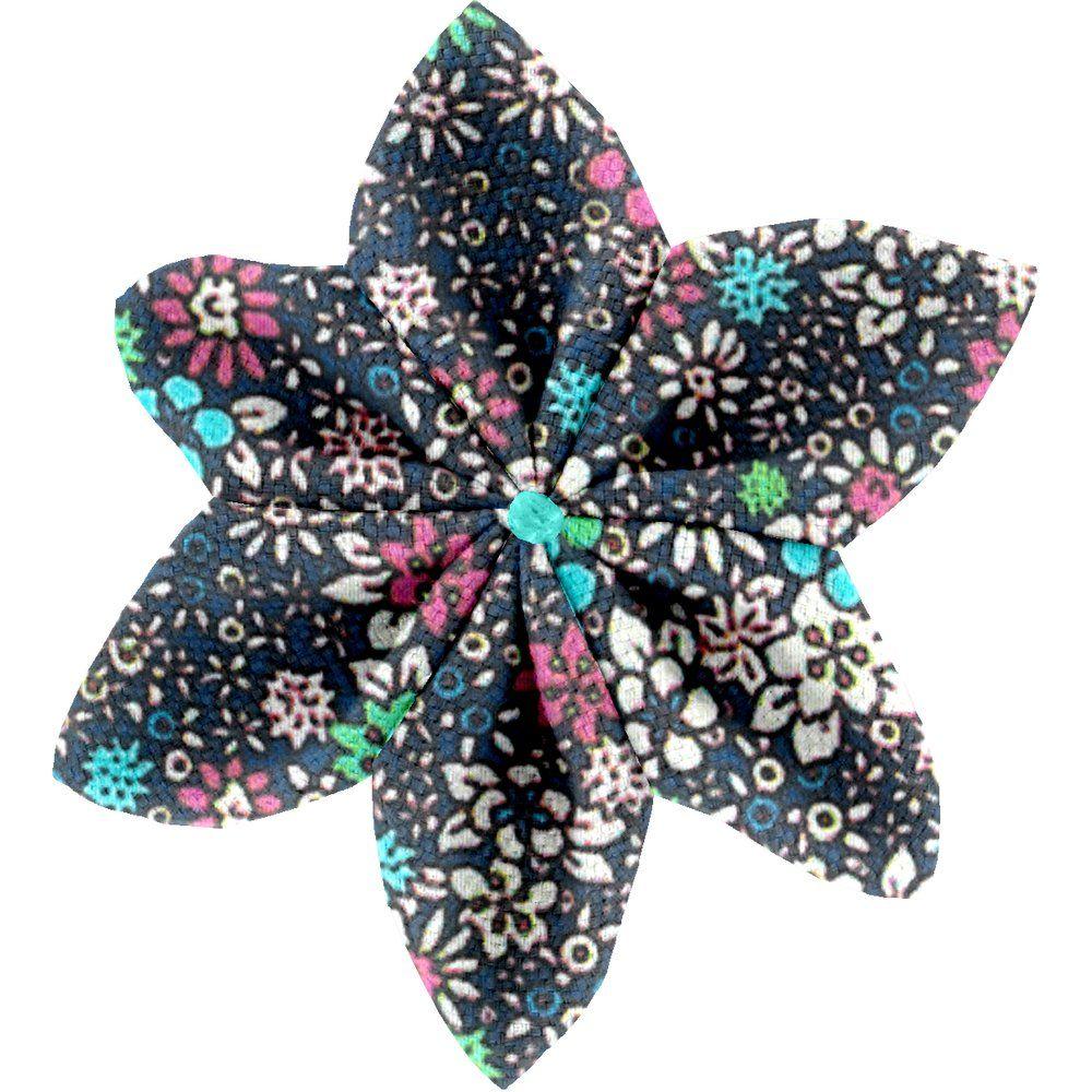 Barrette fleur étoile 4 milli fleurs vert azur