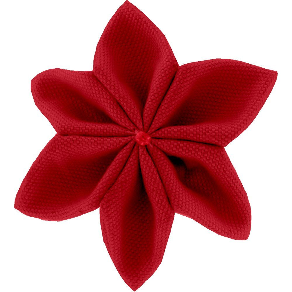 Star flower 4 hairslide red