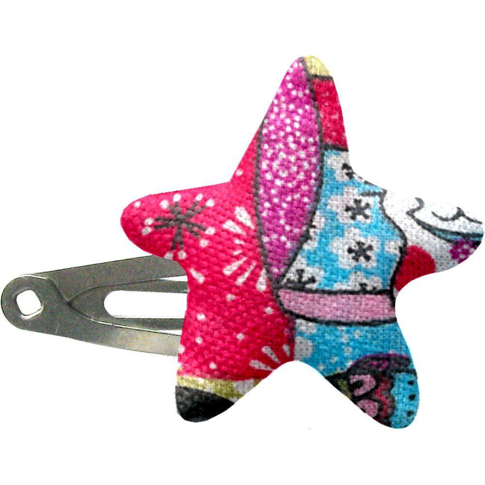 Star hair-clips kokeshis