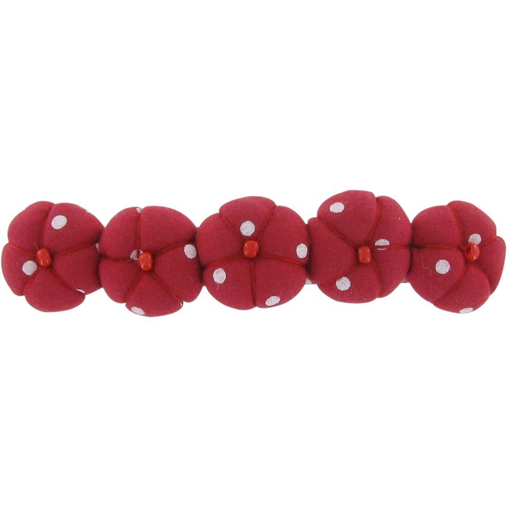 Japan flower hair slide-large size red spots