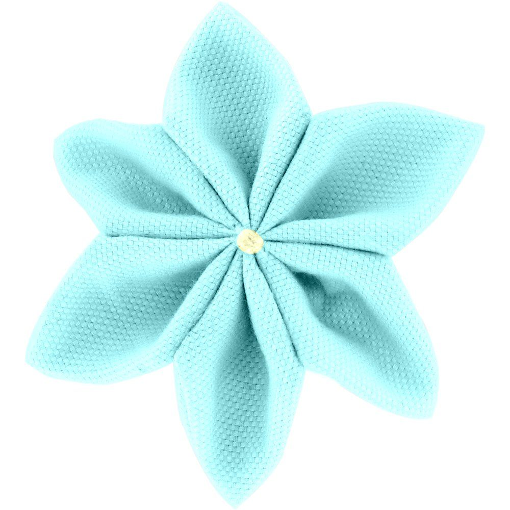 Barrette fleur étoile 4 azur - PPMC 74ce7be0af0