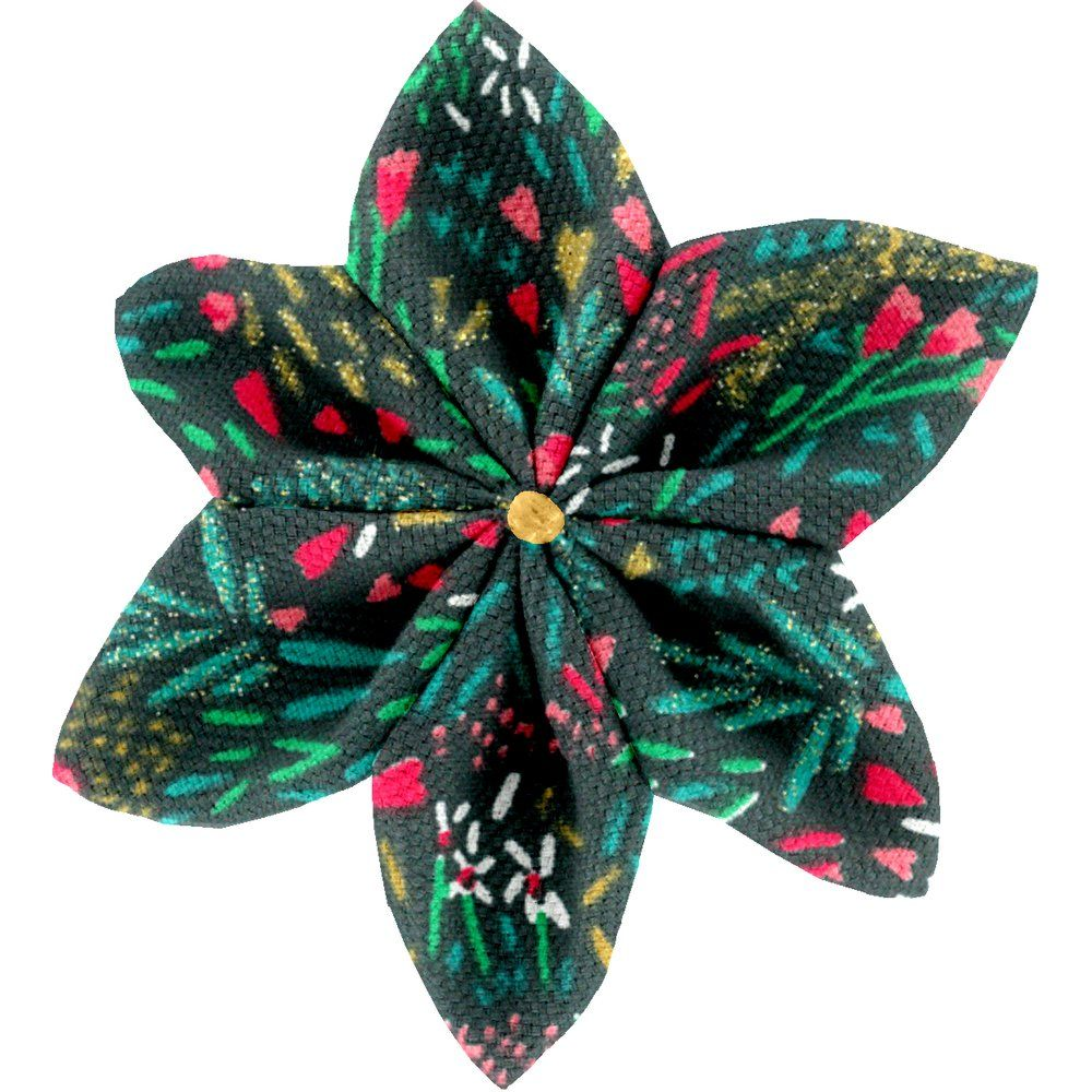 Star flower 4 hairslide deer