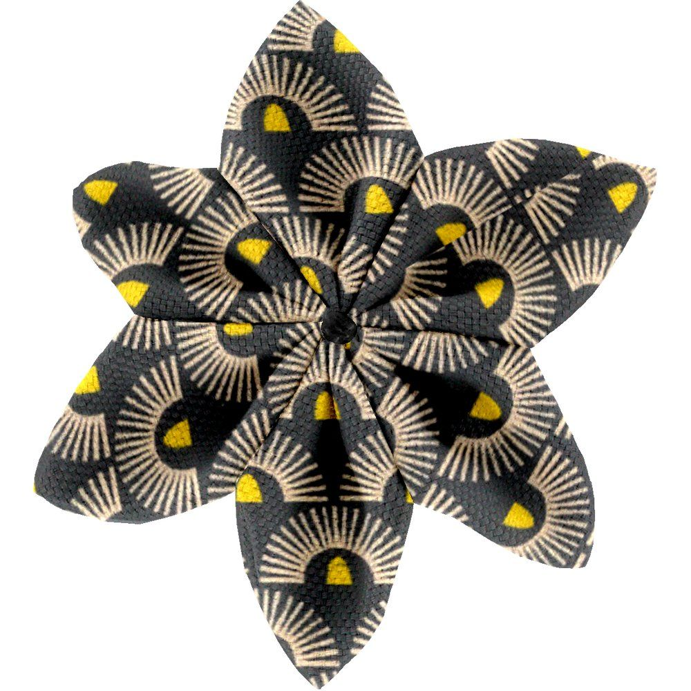Star flower 4 hairslide inca sun