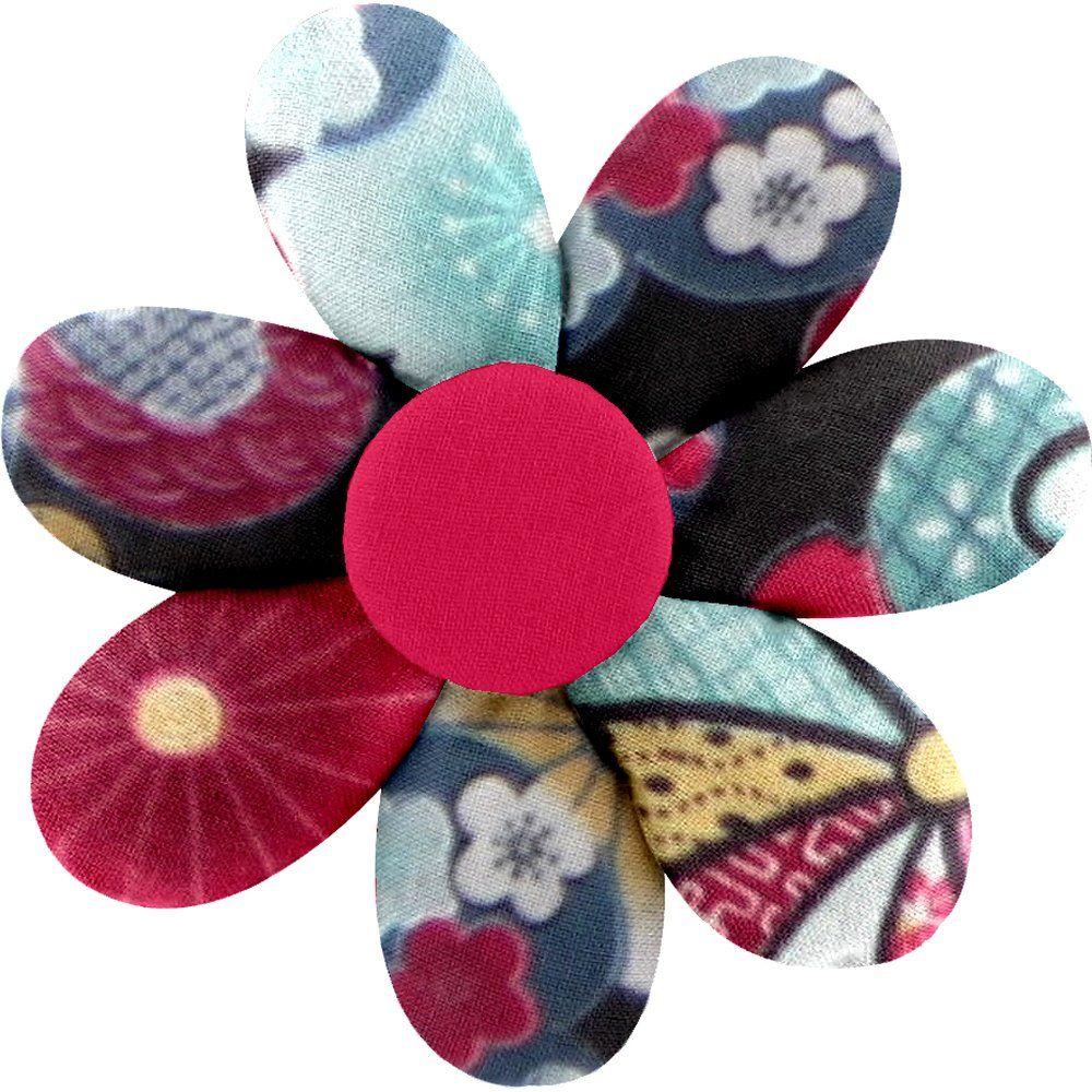 Barrette fleur marguerite fleurs du mékong