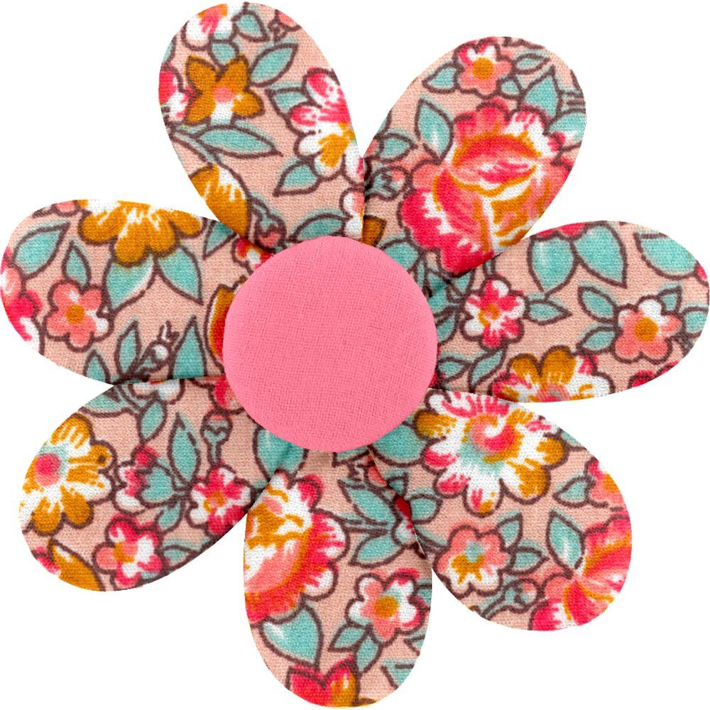 Fabrics flower hair clip peach flower