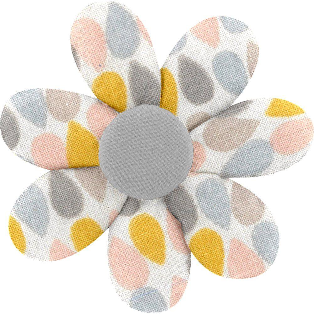 Barrette fleur marguerite gouttes pastel