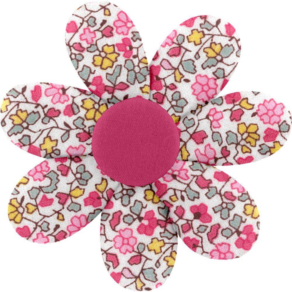 Barrette fleur marguerite jasmin rose
