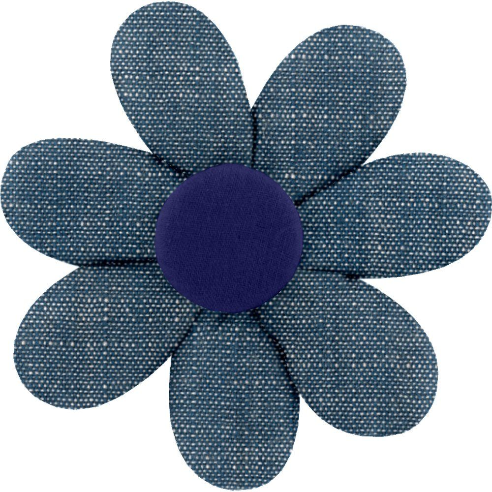 Fabrics flower hair clip light denim