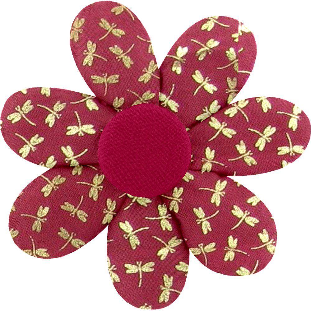 Barrette fleur marguerite ruby dragonfly
