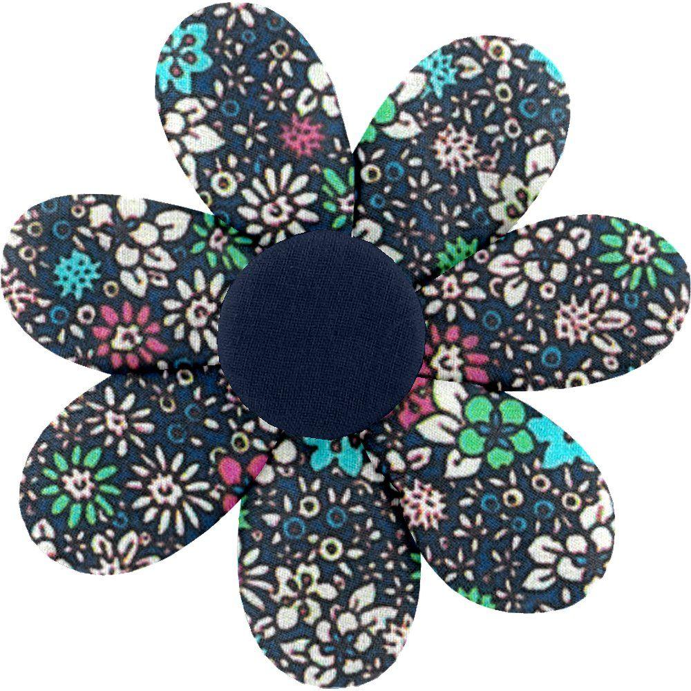Barrette fleur marguerite milli fleurs vert azur